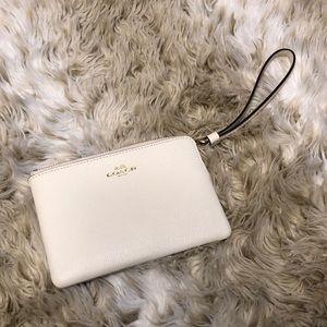 Off-White/Cream colored Coach Wrist Wallet